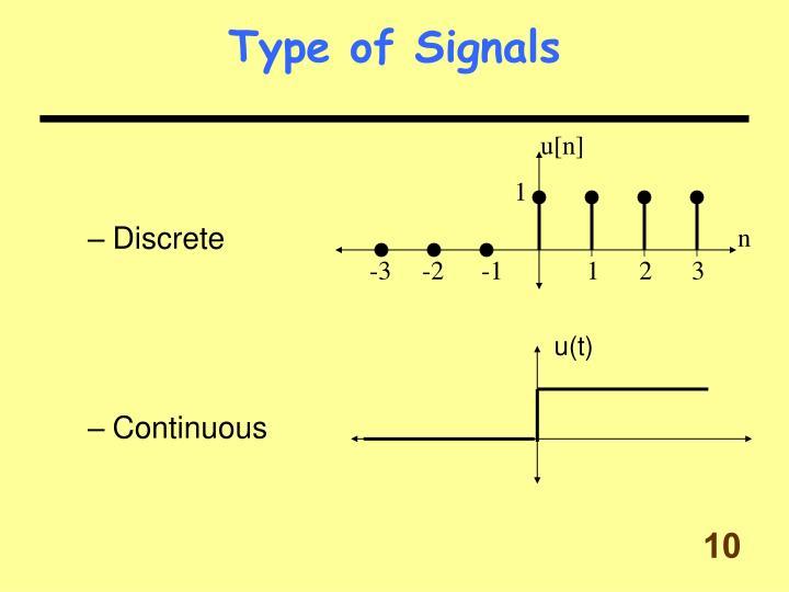 Type of Signals