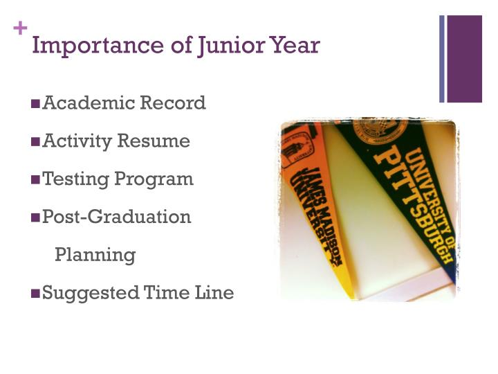 Importance of Junior Year