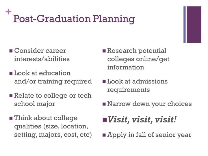 Post-Graduation Planning