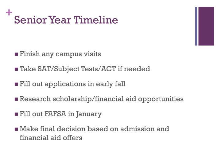 Senior Year Timeline
