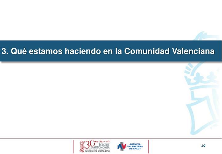 ¿Por qué en la Comunidad Valenciana?