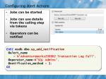 configuring alert actions