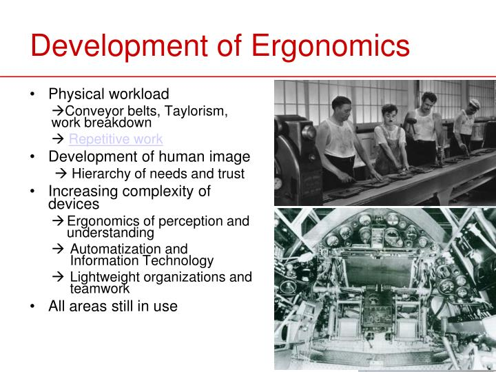 Development of Ergonomics