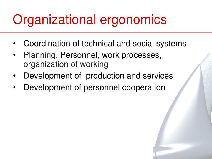 Organizational ergonomics