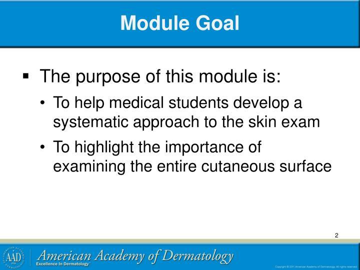 Module Goal