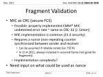 fragment validation1