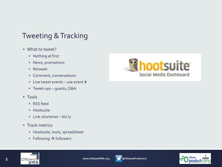 Tweeting & Tracking