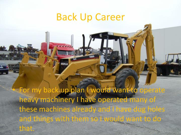 Back Up Career