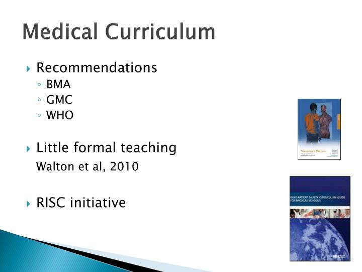 Medical Curriculum