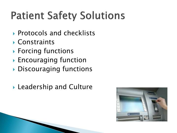Patient Safety Solutions