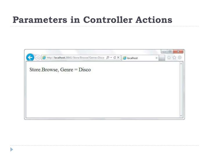 Parameters in Controller Actions