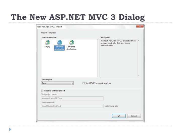 The New ASP.NET MVC 3 Dialog