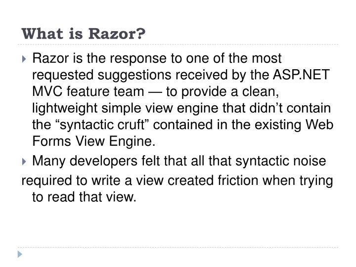What is Razor?