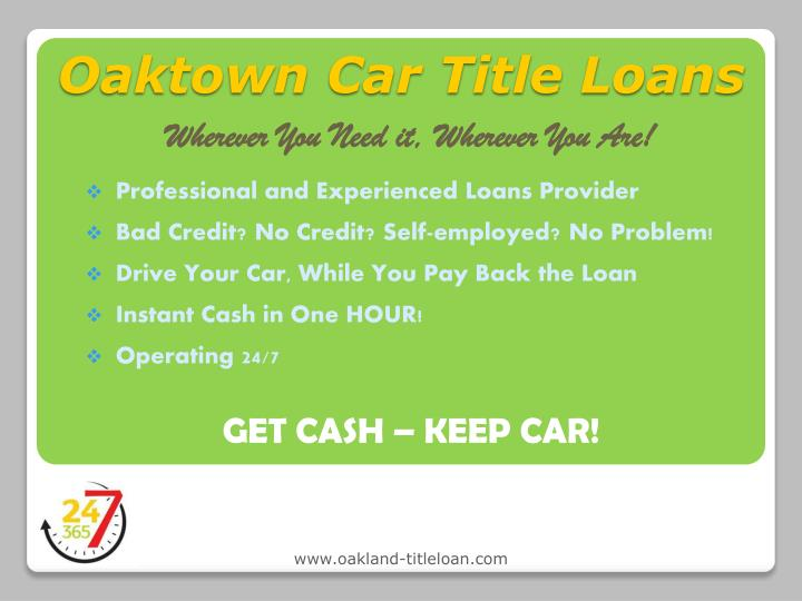 Oaktown car title loans