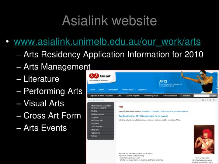 Asialink website