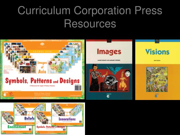 Curriculum corporation press resources