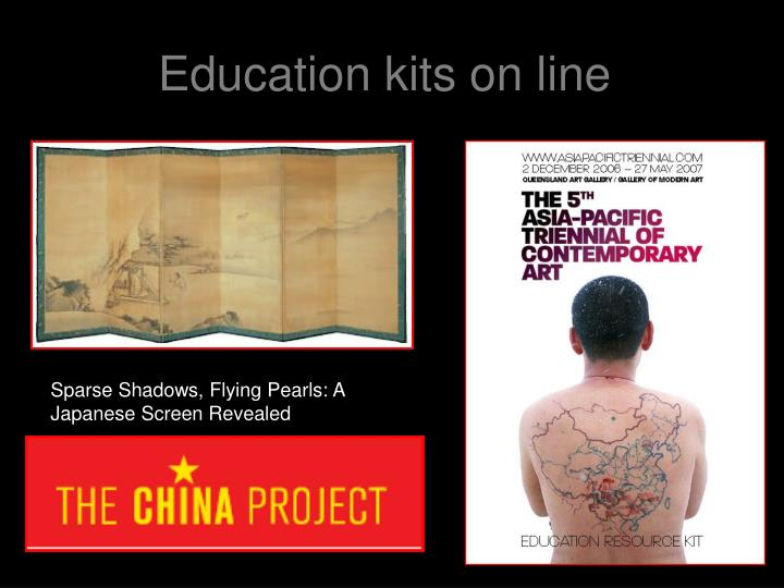 Education kits on line