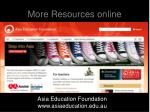 more resources online