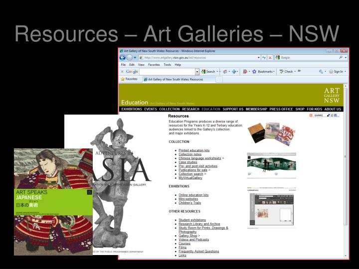 Resources – Art Galleries – NSW