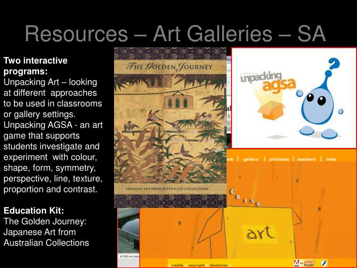Resources – Art Galleries – SA