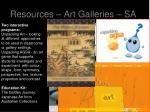 resources art galleries sa