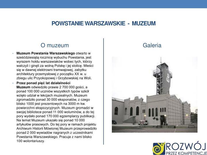 Powstanie Warszawskie  -  muzeum