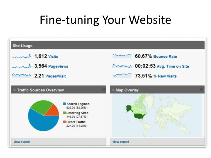 Fine-tuning Your Website