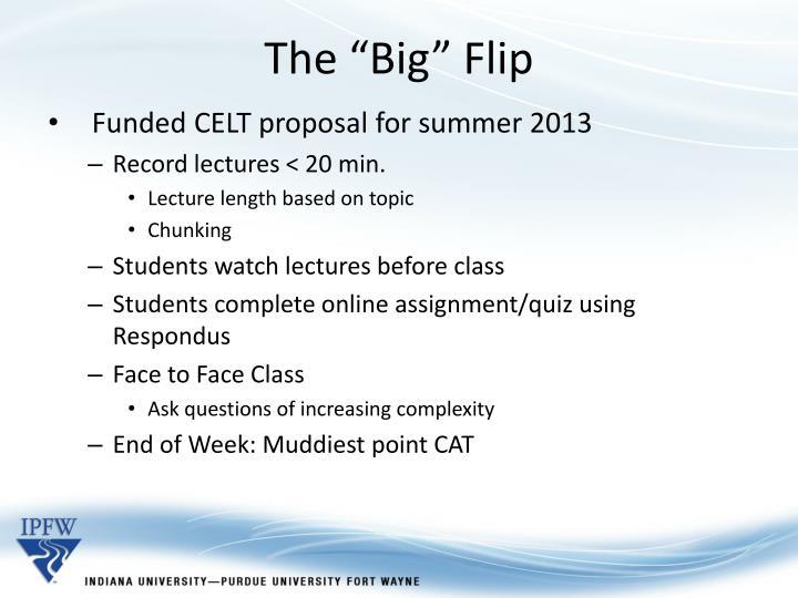 """The """"Big"""" Flip"""