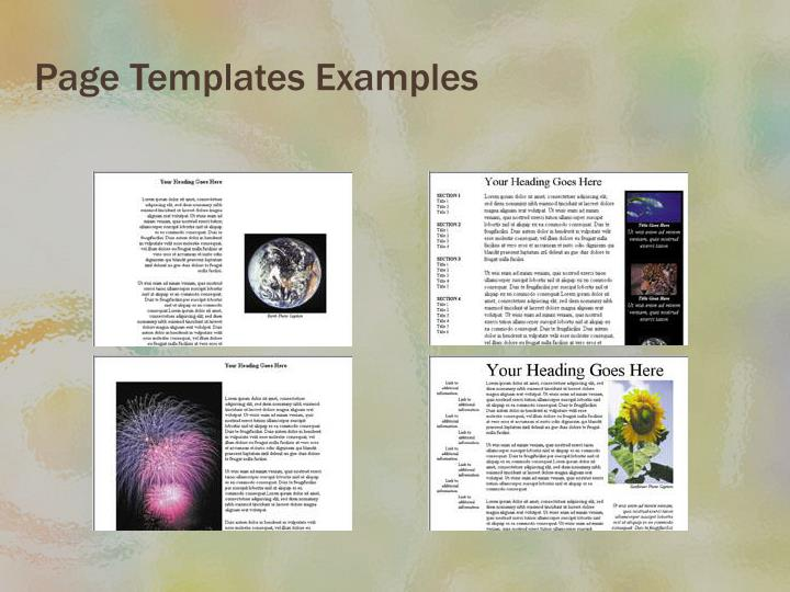 Page Templates Examples