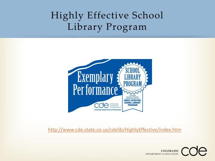 Highly Effective School