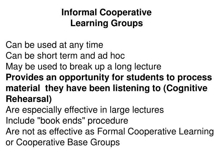 Informal Cooperative