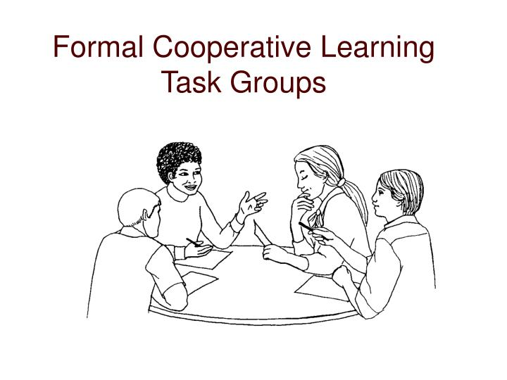 Formal Cooperative Learning Task Groups