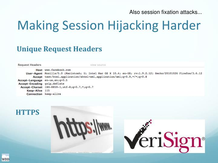 Making Session Hijacking Harder