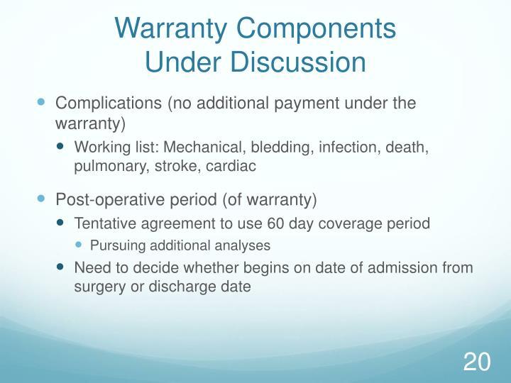 Warranty Components