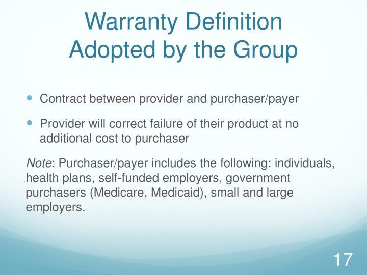 Warranty Definition