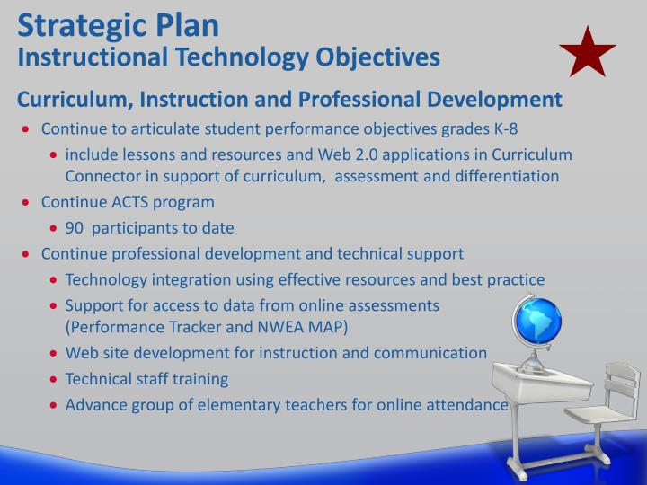 Strategic plan instructional technology objectives