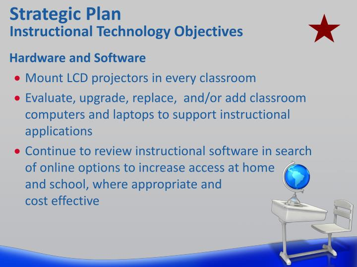 Strategic plan instructional technology objectives1