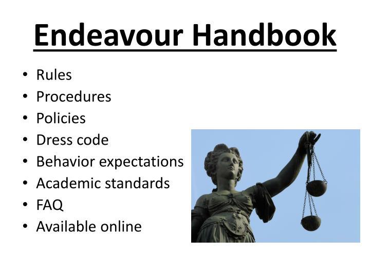 Endeavour Handbook