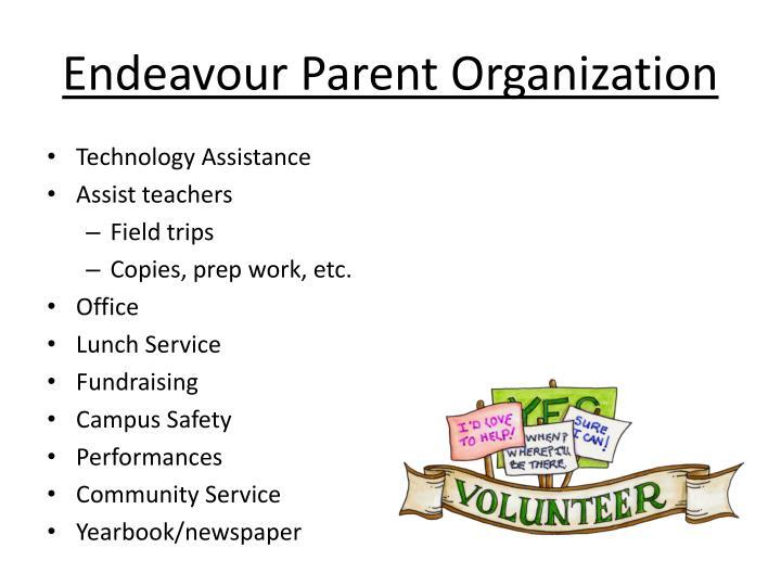 Endeavour Parent Organization