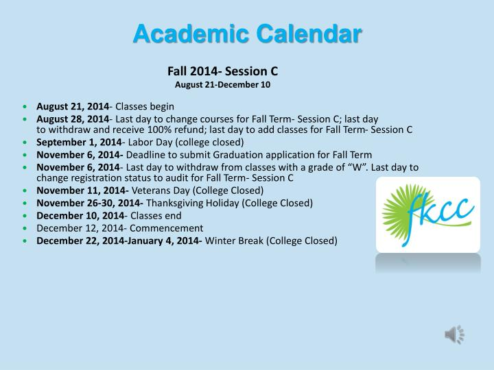 Fall 2014- Session C