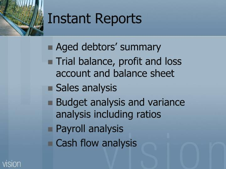 Instant Reports