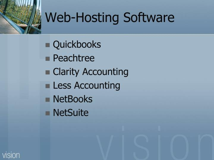 Web-Hosting Software