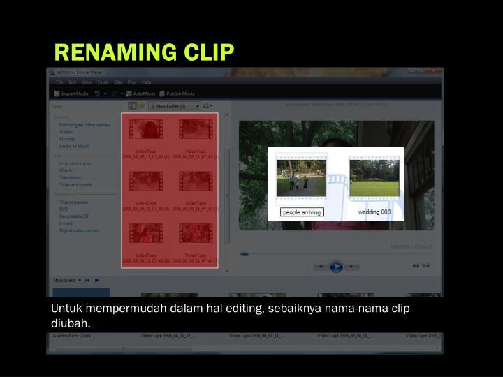 RENAMING CLIP