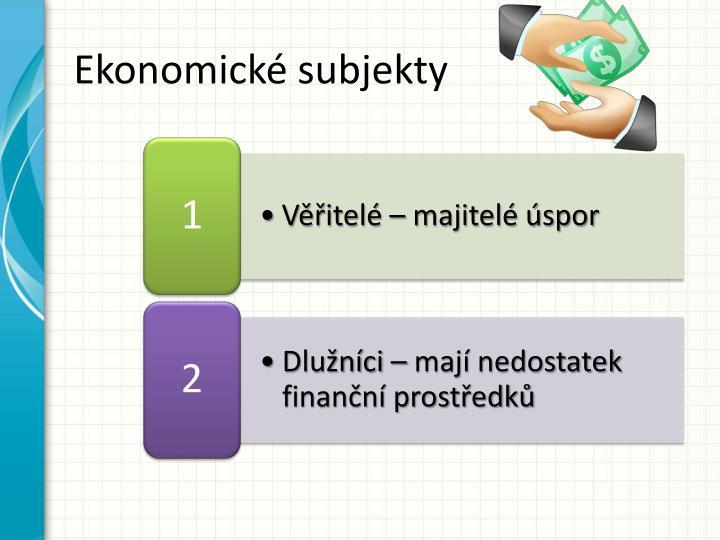 Ekonomické subjekty