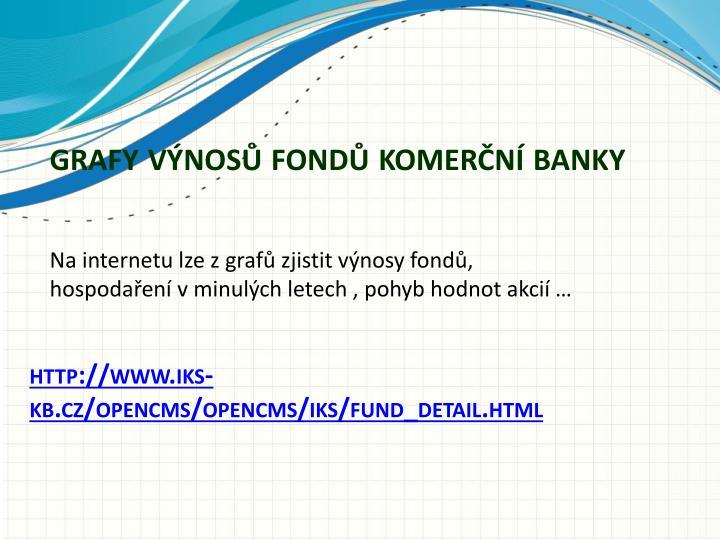 grafy výnosů fondů komerční banky
