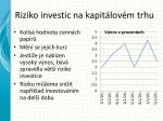 riziko investic na kapit lov m trhu