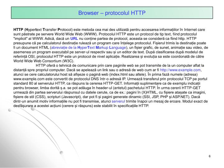 Browser – protocolul HTTP