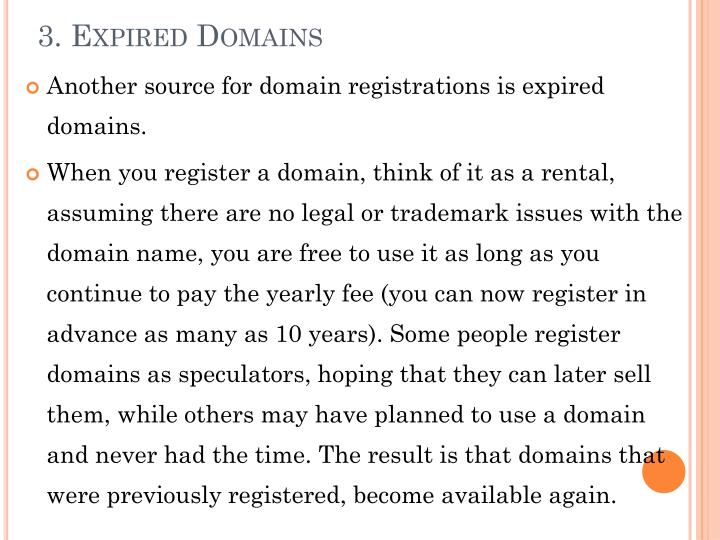3. Expired Domains