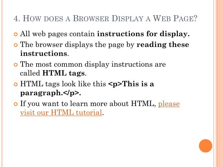 4. How does a Browser Display a Web Page?