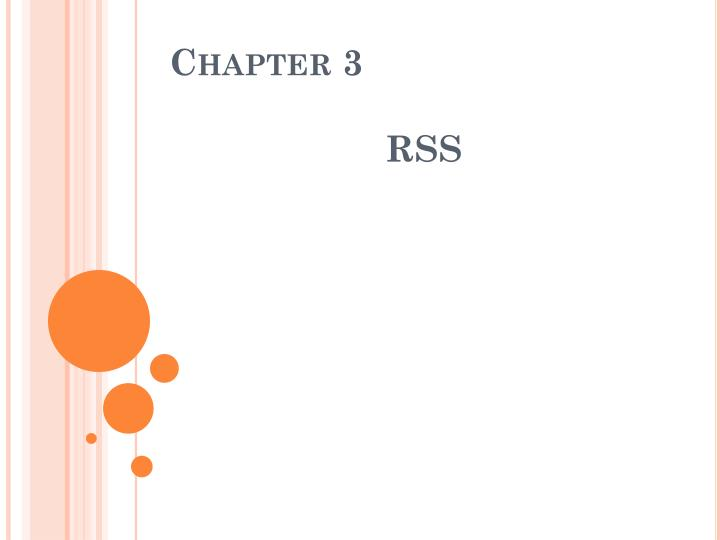 Chapter 3 rss